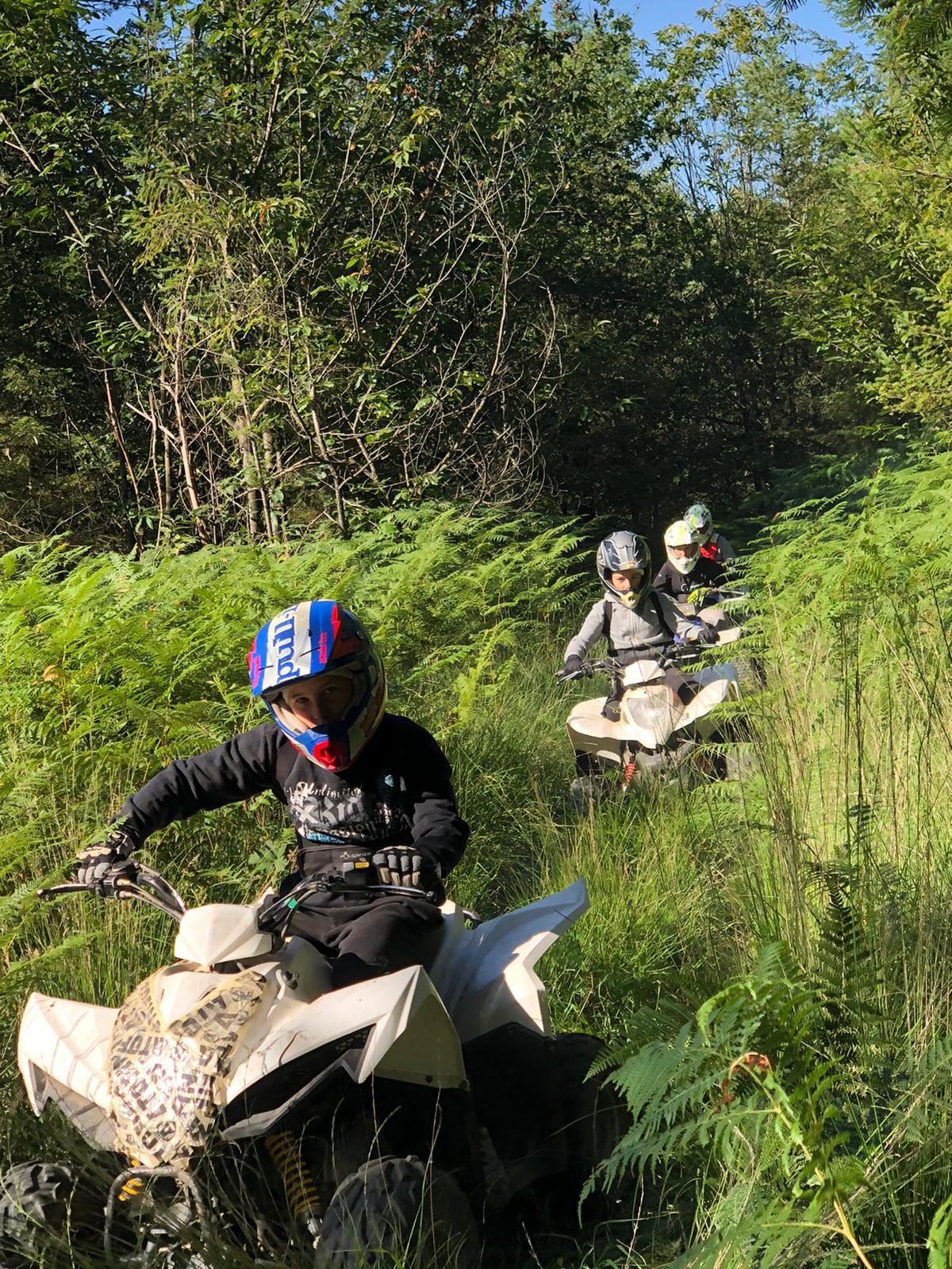 Quad et moto dans la Haute-Vienne